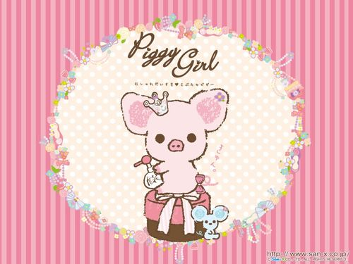 Piggy-Girl-Wallpaper-San-x-Pink-Background